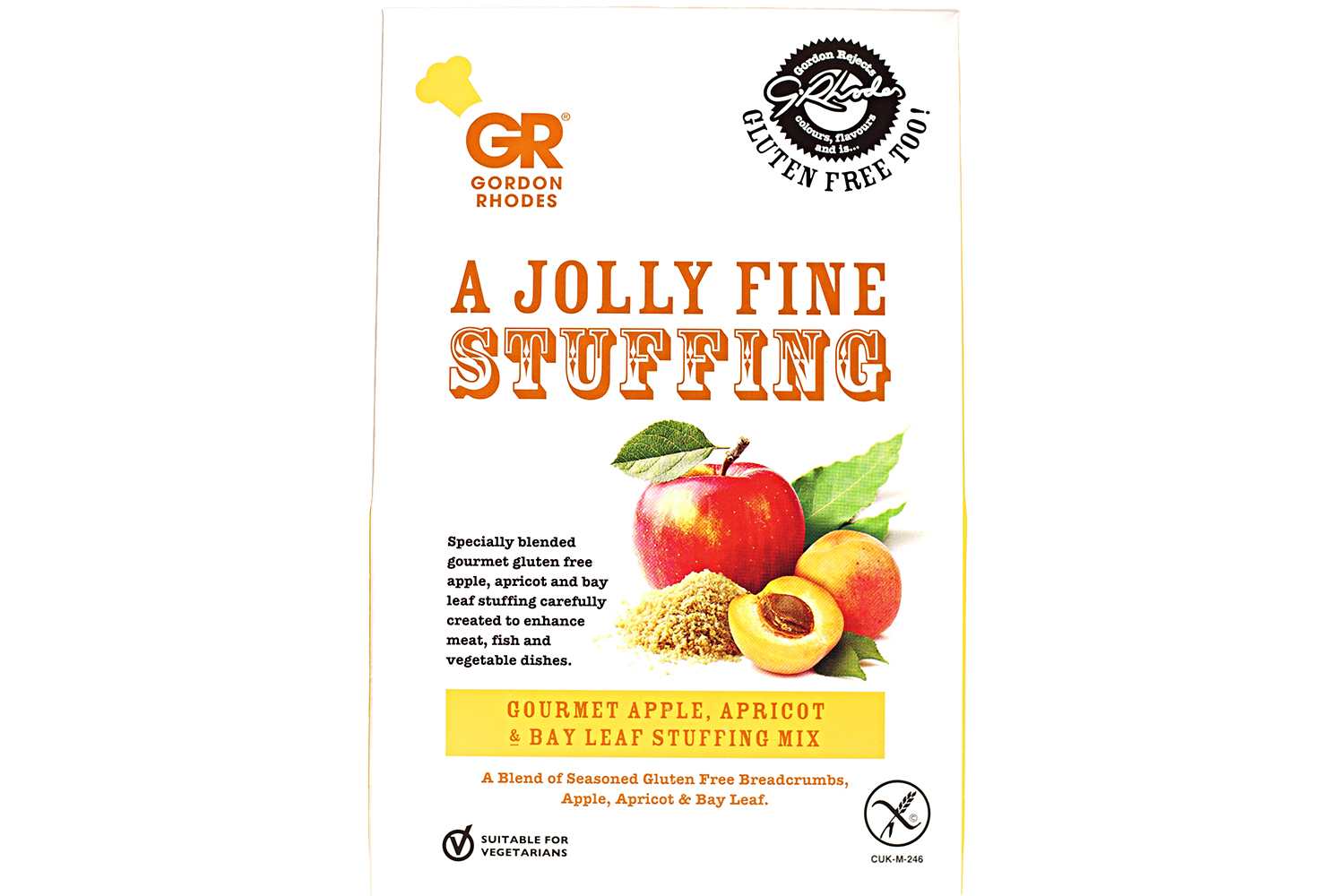 GR GLUTEN FREE APPLE APRICOT & BAY STUFFING MIX