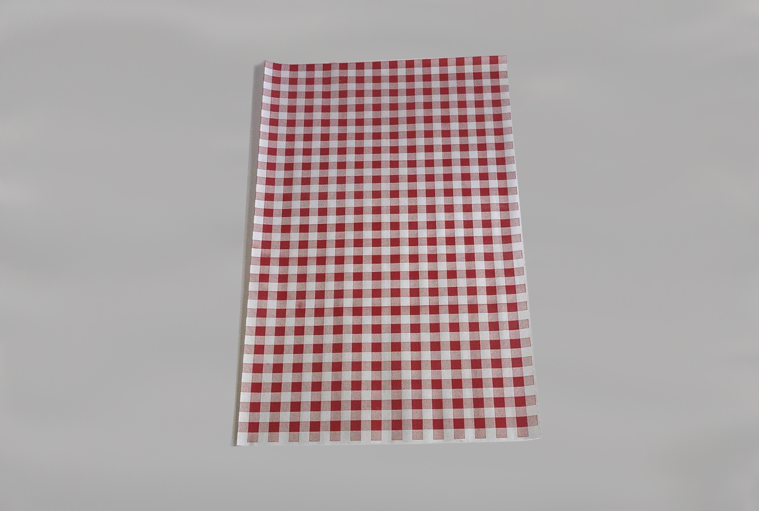 RED GINGHAM SHEETS 250X380 50GSM