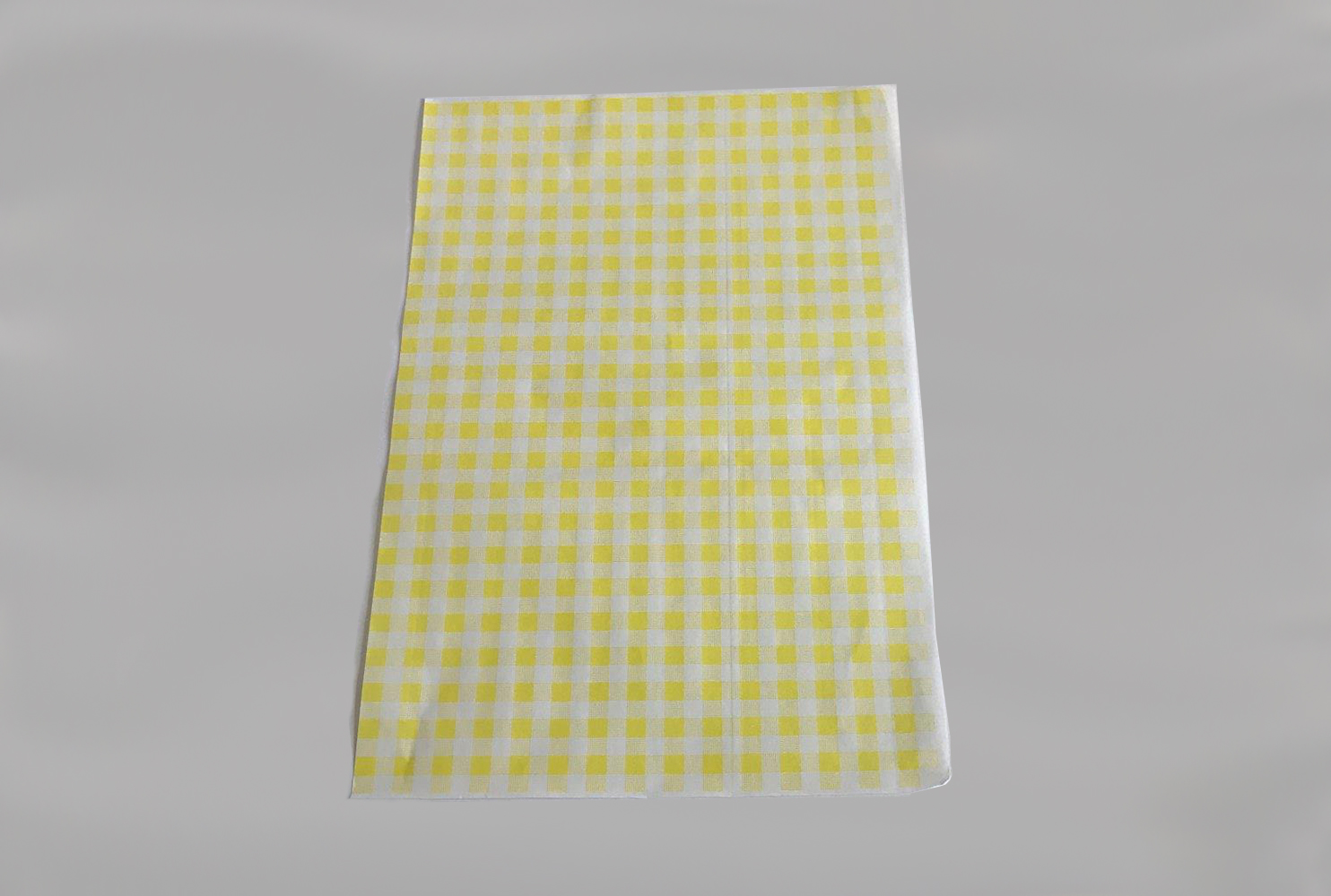 YELLOW GINGHAM SHEETS 250X380 50GSM