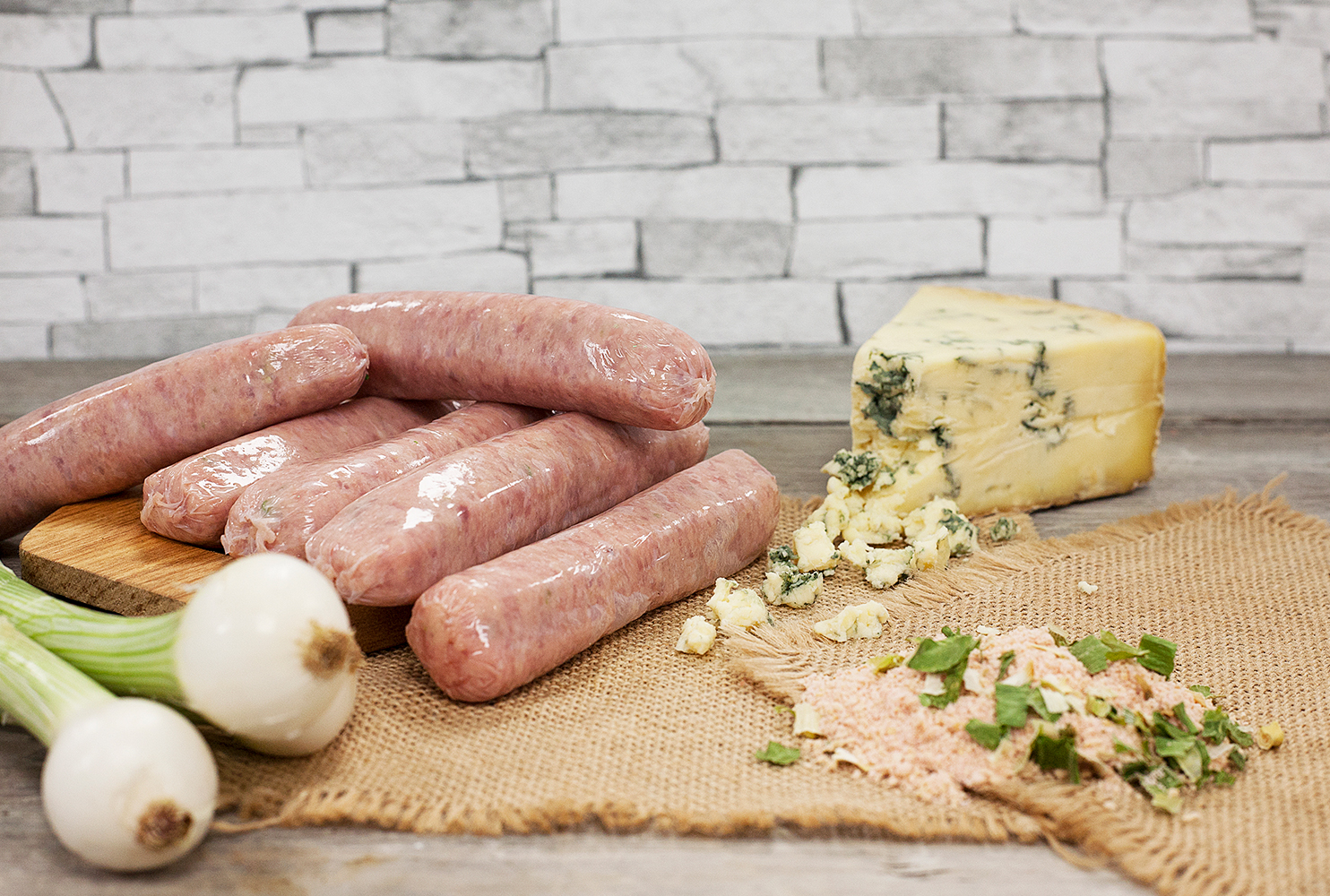 COUNTRY FAYRE PORK STILTON FLAVOUR & SPRING ONION SAUSAGE MIX
